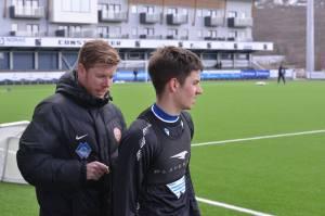 Jordan Blinco with PLAYERTEK at Høddvoll.  Picture: Arne Flatin.